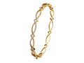 18kt yellow gold Eternity bracele with .66 cts diamonds. Available in white, yellow, or rose gold.