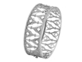 18kt white gold Gothic Arch cuff with 2.17 cts diamonds. Available in white, yellow, or rose gold.