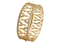 18kt yellow gold Gothic Arch cuff with 2.17 cts diamonds. Available in white, yellow, or rose gold.