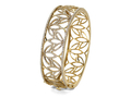 18kt yellow gold Lotus cuff with 2.9 cts diamonds. Available in white, yellow, or rose gold.