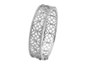 18kt white gold Quatrefoil bracelet with 1.73 cts diamonds. Available in white, yellow, or rose gold.