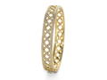 18kt yellow gold pave Lattice bracelet with 1.5 cts diamonds. Available in white, yellow, or rose gold.