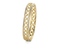 18kt yellow gold Lattice bracelet with .75 cts diamonds. Available in white, yellow, or rose gold.