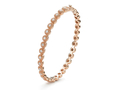 18kt rose gold Ornate Bezel bracelet with .5 cts diamonds. Available in white, yellow, or rose gold.