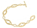 18kt yellow gold Gothic bracelet with 1.68 cts diamonds. Available in white, yellow, or rose gold.