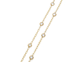 18kt yellow gold 30 inch White Topaz chain.  Available in white, yellow, or rose gold.