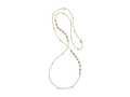 "18kt yellow gold 36"" Comtesse chain with 1.2 cts white sapphire and 1.4 cts diamonds. Available in white, yellow, or rose gold."