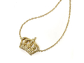 "18kt yellow gold 20"" Crown necklace with 0.16 cts diamonds. Available in white, yellow, or rose gold."