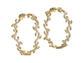 18kt yellow gold pave Ivy hoop. Available in 1.5 inch with 2.13 cts diamonds and 2 inch with 2.95 cts diamonds. Available in white, yellow, or rose gold.