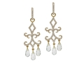 18kt yellow gold Duchess earring with green amethyst and 1.14 cts diamonds. Available in white, yellow, or rose gold.