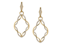 18kt yellow gold Eternity earring with .51 cts diamonds. Available in white, yellow, or rose gold.