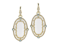 18kt yellow gold Imperial earring with blue topaz over white onyx and 1.22 cts diamonds. Available in white, yellow, or rose gold.