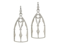 18kt white gold Gothic Window earring with 1.47 cts diamonds. Available in white, yellow, or rose gold.