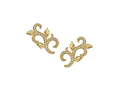 18kt yellow gold Ivy ear climber with .38 cts diamonds. Available in white, yellow, or rose gold.
