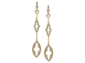 18kt yellow gold Gothic link earring with 1.31 cts diamonds. Available in white, yellow, or rose gold.