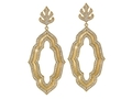 18kt yellow gold Large Elizabeth earring with 3.2 cts diamonds. Available in white, yellow, or rose gold.