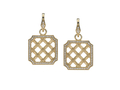 18kt yellow gold Lattice earring with .62 cts diamonds. Available in white, yellow, or rose gold.