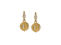 18kt yellow gold Single Orb earring with .12 cts diamonds. Available in white, yellow, or rose gold.