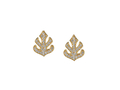 18kt yellow gold Leaf clip earring topper with .56 cts diamonds. Available in white, yellow, or rose gold.