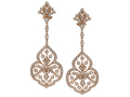 18kt rose gold Comtesse earring with 2.7 cts diamonds. Available in white, yellow, or rose gold.