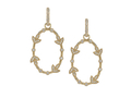 18kt yellow gold Comtesse oval earring with .6 cts diamonds. Available in white, yellow, or rose gold.