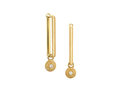 18kt yellow gold Ornate Bezel square earring with .07 cts diamonds. Available in white, yellow, or rose gold.