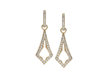 18kt yellow gold Medieval earring with .7 cts diamonds. Available in white, yellow, or rose gold.