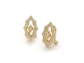 18kt yellow gold Gothic clip earring topper with .3 cts diamonds. Available in white, yellow, or rose gold.