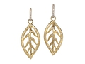 18kt yellow gold Leaf earring with .67 cts diamonds. Available in white, yellow, or rose gold.