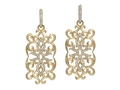 18kt yellow gold Montecarlo earring with .84 cts diamonds. Available in white, yellow, or rose gold.