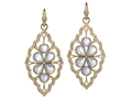 18kt yellow gold Baroque multi moonstone earring wtih 11.7 cts moonstone and 1.08 cts diamonds. Available in white, yellow, or rose gold.