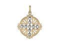 18kt yellow gold Moonstone medallion with 2.7 cts moonstone and .04 cts diamonds. Available in white, yellow, or rose gold.