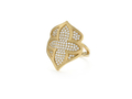18kt yellow gold Crest ring with .65 cts diamonds. Available in white, yellow, or rose gold.