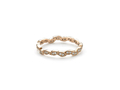 18kt rose gold Leaf band with .18 cts diamonds. Available in white, yellow, or rose gold.