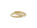 18kt yellow gold Beaded stack band. Available in white, yellow, or rose gold.