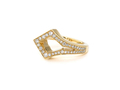 18kt yellow gold Medieval cocktail ring with .5 cts diamonds. Available in white, yellow, or rose gold.